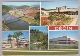 Decin , Celkovy Pohled - Nakupni Stredisko Kotva - OV KSC - Pastyrska Stena - Zimni Stadion - Tschechische Republik