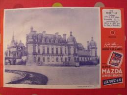 buvard la pile Mazda. ch�teau de chantilly (n� 13). vers 1950