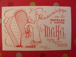 buvard matelas � ressorts Matfa. Jouan. Quelaine Mayenne. vers 1950