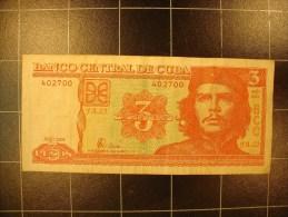 cuba 3 pesos 2004 circul�