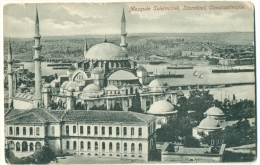 Mosquée Suleimanié Stamboul Constantinople C. 1908 - Turkey