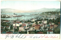 Constantinople Vue Panoramique Du Port 1909 Postmark ÖSTERR. POST Austrian Post Office - Türkei