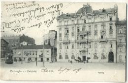 Helsinki Fennia Hotel With Tram Sent 1908 - Finlande