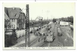 CPA - CAMP D´ELSENBORN - Gare Militaire Et Poste - De Krijg Statie En Het Postkantoor - Soldat - Armée    // - Butgenbach - Buetgenbach