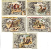 Robinson Crusoè 5 Figurine Cod.liebig.081 - Liebig