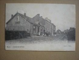 Beyne, Avenue De La Gare, Belle Animation Avec Attelage, 1920, Belle Oblitération  (E1) - Beyne-Heusay