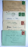 GB SELECTION OF 4 EDWARD VIII COVERS/CARDS - Cartas