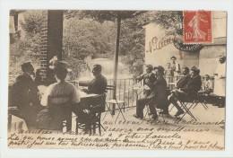 38 Dép.- 449.- Allevard-les-Bains.- Terrasse Sur Le Bréda. Courtin édit, Grenoble.  Carte Postale Ayant Voyagé En 1908 O - Allevard