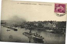 CONFLANS FIN D'OISE  Depart De La Chaine Battelerie Peniches  Recto Verso - Conflans Saint Honorine