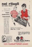 # SCUOLA RADIO ELETTRA TORINO Italy 1950s Advert Pubblicità Publicitè Reklame Publicidad Radio TV Televisione - Literature & Schemes