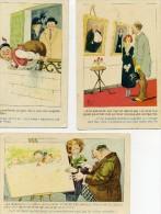 MICH - Lot De 3 Cartes - HUMOUR - PEINTRE - TABLEAU - N° 7020 - 7024- 7028 - - Mich