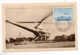 31623 -   PA  25  S/carte  Vue - 1er  Courrier  Belge Par  Hélicoptère Bruxelles  21.08.50 - Elicotteri