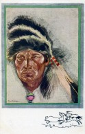 STOTEPIS - INDIEN CRI - Portant Le Bonnet De Guerre - Illust : Paul CROZE - Indiens De L'Amerique Du Nord