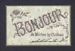 Bonjour De Merbes Le Chateau  ( Paillettes Ed. Vve Preaux & Fils) - Merbes-le-Château