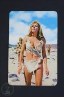 1974 Small/ Pocket Calendar - Movie/ Cinema Actress: Raquel Welch In One Million Years B.C. Movie - Tamaño Pequeño : 1971-80
