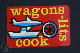 1960 - 1961 Small/ Pocket Calendar - Wagon - Lits Cook - Organisation - World Travel Service Advertising - Calendarios