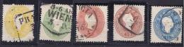 Austria1860:Michel 18-22used Cat.Value $104+ - 1850-1918 Impero