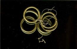 8 Anneaux Laiton Rond19-20èmes  Diamètre Extérieur 4.9 Cm - Other