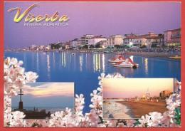 CARTOLINA VG ITALIA - RIMINI - Viserba - Riviera Adriatica - Tramonto Sulla Spiaggia - Riflessi - 10 X 15 - ANN. 2004 - Rimini