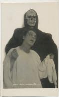 Real Photo With Luis Rainer, Alex Moissi Albania Born In Trieste Burried In Morcote Tessin Tete De Mort Skull Skeleton - Albanie