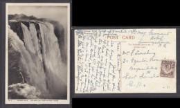 Rhodesia, Victoria Falls, THE MAIN FALLS FROM CATARACT ISLAND, PERCY  M.CLARK, VICTORIA FALLS (photo & Pub) - Zimbabwe