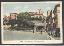 7237-TRIESTE-PIAZZA SANSOVINO-GALLERIA DI MONTUZZA-1942-ANIMATA-FG - Trieste