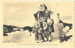 Aux Glaces Polaires - Famille Esquimaude - Edition OE.A.M.I. - Lot De 4 Cartes Non Circulées - Amérique