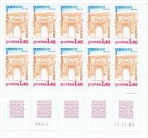 FR/SER 3 - FRANCE Service N° 68/70 Neufs** En Blocs De 10 Coins Datés - Servizio