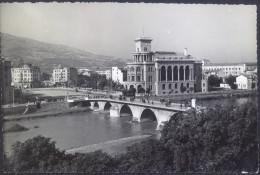Skopje Old Photopostcard With Additional Postal Tax Stamp Travelled 1956 Bb - Macédoine