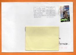 MAURY N° 3693   MOULIN DU NORD  Lettre Entière N° P 287 - Marcophilie (Lettres)