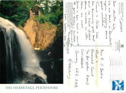 Ossian's Hall, Black Linn Falls, Perthshire, Scotland Postcard Posted 2010 Stamp - Perthshire