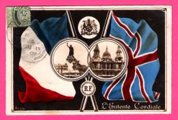 L´Entente Cordiale - Drapeau Français Et Anglais - France & UK - Flags - ARISTOPHOT Co - 1908 - ALF 336 - Guerre 1914-18
