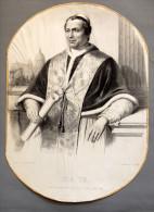Pape Pie IX - Très Ancienne Lithographie. - Lithographies