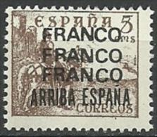 FRANCO FRANCO FRANCO ARRIBA ESPAÑA   Cid  Viñeta España Guerra Civil ** MNH - Verschlussmarken Bürgerkrieg
