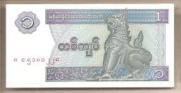 Myanmar - Banconota Non Circolata FdS Da 1 Kyat P-69 - 1996 - Myanmar