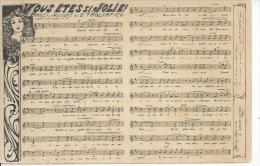 VOUS ETES SI JOLIE !  - Paroles Et Musique: D. TAGLIAFICO ( PARTITION - CHANSON ) - Spectacle