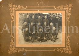 Grande Photo / Hommes En Uniforme / Militaria / Soldaat / Soldat - Guerra, Militares