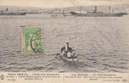 Guerre 1914-15... Dans Les Balkans à Bord - L'état-major Quitte Le Bord Avec Le Général Sarrail - War 1914-18