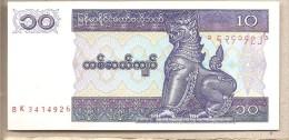 Myanmar - Banconota Non Circolata Da 10 Kyats - 1996 O 1997 - Myanmar