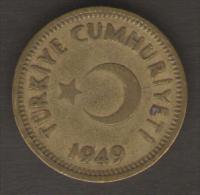 TURCHIA 25 KURUS 1949 - Turchia