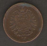 GERMANIA 1 PFENNIG 1876 - [ 4] 1933-1945 : Troisième Reich