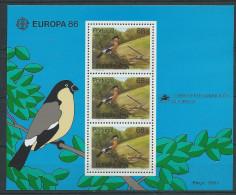 Bloc Des Açores N°7 Neuf De 1986 Thème Europa Oiseau - 1986