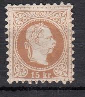 Autriche - Hongrie 1867   Impression grossi�re   15 k brun