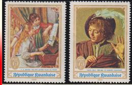 Rwanda 0300A/300B**  Peinture Et Musique MNH - 1962-69: Neufs