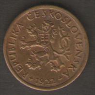 CECOSLOVACCHIA / CZECHOSLOVAKIA - 10 HALERU ( 1922 ) First Republic - Cecoslovacchia