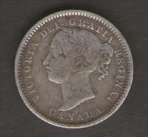 CANADA - QUEEN VICTORIA - 10 CENTS ( 1888 ) AG - SILVER - Canada