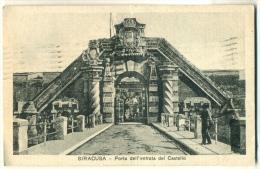 Siracusa Porta Dell'entrata Del Castello 1937 - Siracusa