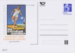 CESKA REPUBLICA:1998: Postal Stationery: OLYMPICS,AMSTERDAM 1928,ATHLETICS.RUNNING,