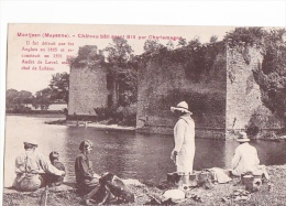 24383 Montjean Mayenne Chateau Bati Avant Charlemagne Sans éd -pique Nique, Peche, Enfant Chien