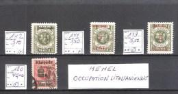 MEMEL: occupation lituanienne : lot de 4 timbres dont 1 cot� 40,00 �.